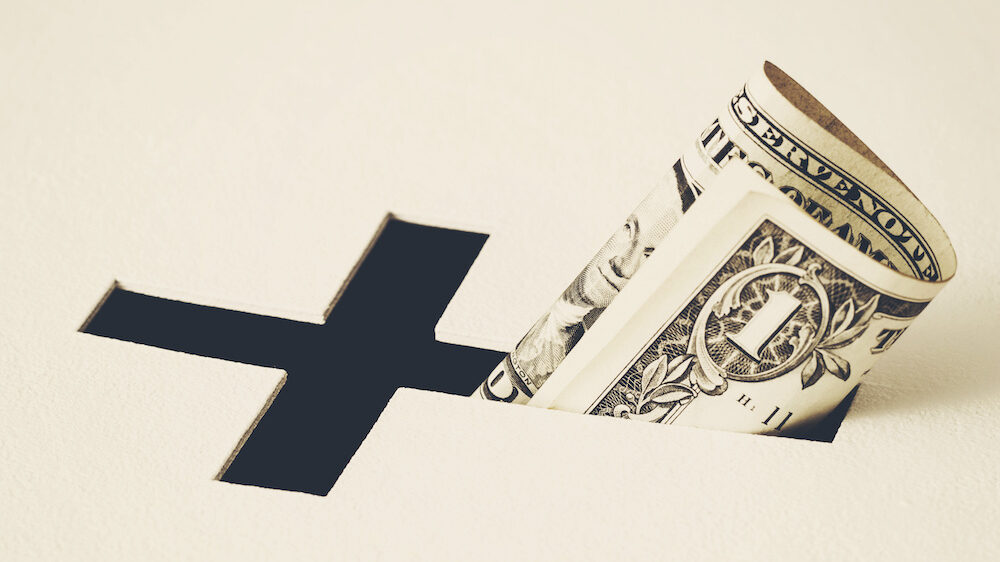 Concept of church donations and charity activity